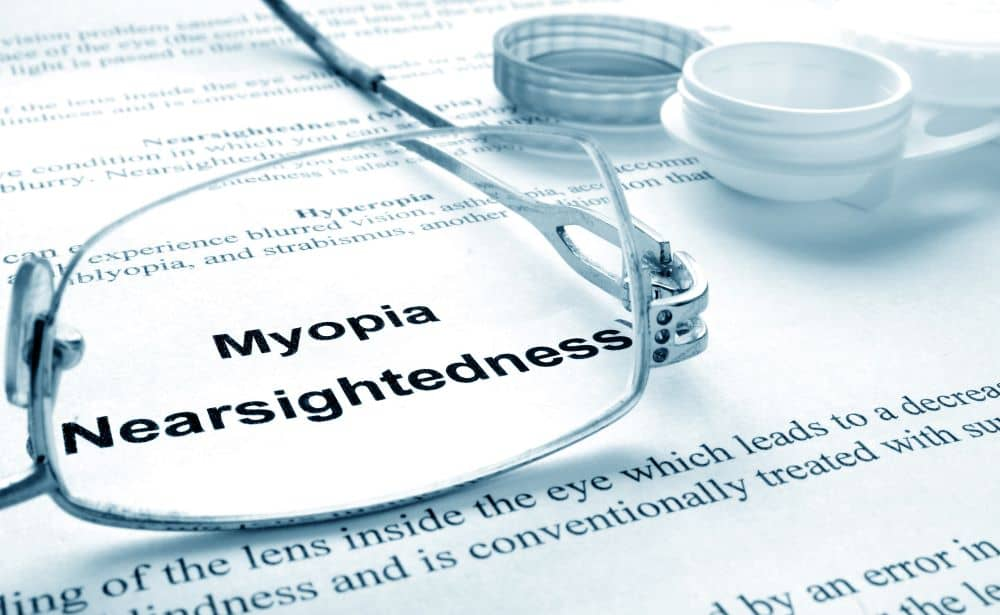 Myopia is a vision condition in which people can see close objects clearly, but objects farther away appear blurred.